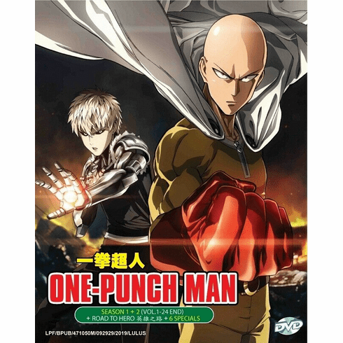 One punch man Complete set English Audio For Season 1 & 2