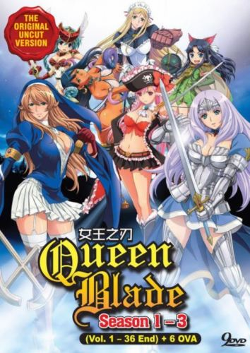 Queen's Blade (Season 1 - 3) +Bonus 6 OVA Uncensored English DUB