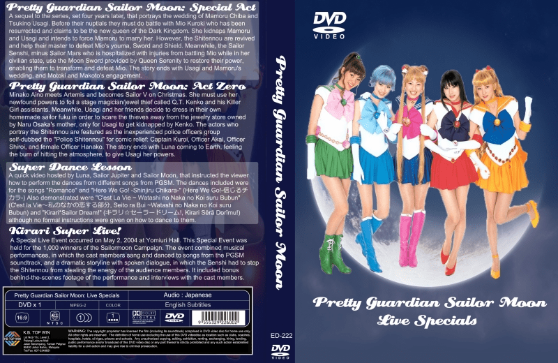 Sailor Moon Live Pretty Guardian 4 Specials Movies