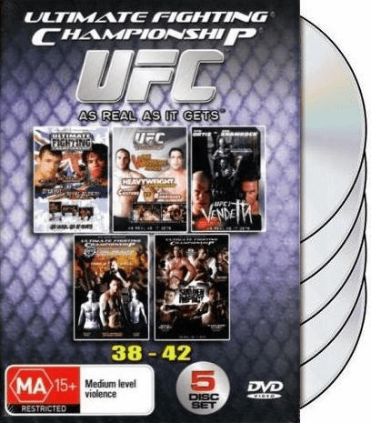 UFC 38-42 DVD Box Set 38 39 40 41 42 Ultimate Fighting Championship Vol 38-42