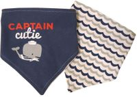 2 Pack Bandana Bibs Captain Cutie_Waves