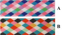 "7/8"" Argyle Print Grosgrain Ribbon - by the yard"