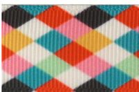 """Clearance Priced - 7/8"""" Argyle Print Grosgrain Ribbon - by the yard"""