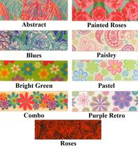 "7/8"" Flower Printed Grosgrain Ribbon - by the yard"