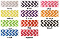 "7/8""  Chevron Print Grosgrain Ribbon - by the yard"