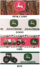 "7/8"" John Deere Print Grosgrain Ribbon - by the yard"
