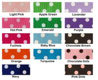 "7/8""  Polka Dot Grosgrain Ribbon - by the yard"