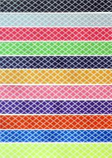"7/8"" Quadrefoil Print Grosgrain Ribbon - by the yard"