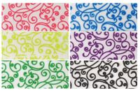 "7/8"" Swirls Print Grosgrain Ribbon - by the yard"