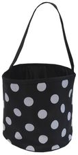 Black & Gray Polka Dot Bucket Tote