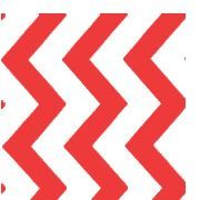 Clearance Priced - Chevron - QuickStitch Embroidery Paper - RED