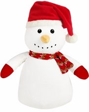 Clearance Priced - Christmas Baby Cubbie - Snowman with Santa Hat