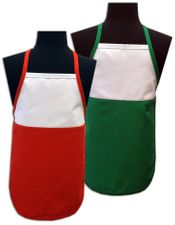 Christmas Two-Toned Aprons - Child size - Only $ 8.50