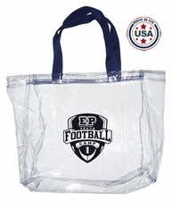 Clear Vinyl Stadium Tote Bag