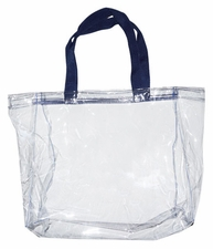 Clear Vinyl Stadium Tote Bag - Navy