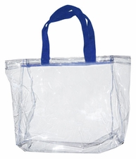 Clear Vinyl Stadium Tote Bag - Royal Blue