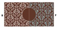 "Clearance Priced - Samantha Large Print w/ 3"" Circle - QuickStitch Embroidery Paper"