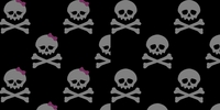 Clearance Priced - Screened Skulls - QuickStitch Embroidery Paper
