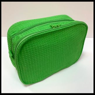 Clearance Priced - Two Compartment Cosmetic Bag - LIME