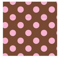 Clearance Priced - Dana Dot - QuickStitch Embroidery Paper - Brown/Pink