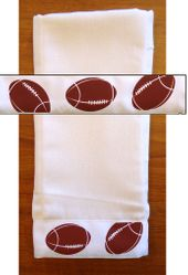 Decorative Burp Cloth - Football