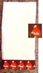 Decorative Burp Cloth - Fox