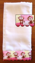 Decorative Burp Cloth - Monkey