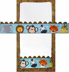 Decorative Burp Cloth - Zoo