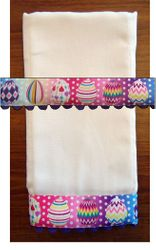 Decorative Burp Cloths - Easter Eggs