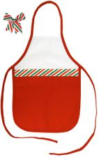 Decorative Christmas Two-Toned Apron - Child - Red/Green