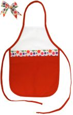 Decorative Christmas Two-Toned Apron - Child - Snowflakes