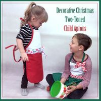 Decorative Christmas Two-Toned Aprons - Child