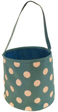 Dusty Aqua & White Polka Dot Bucket Tote