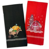 Embroidered Accent Kitchen Towels