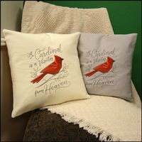"14"" Embroidered Cardinal Pillow"