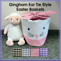 Gingham Ear Tie Style Easter Basket