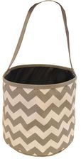 Gray & White Zig Zag Bucket Tote