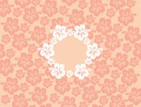 "Clearance Priced - Hawaiian 3"" Circle - QuickStitch Embroidery Paper - ORANGES"
