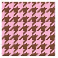 Clearance Priced - Houndstooth - QuickStitch Embroidery Paper - Pink/Brown