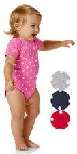 Infant Baby Rib Bodysuit with dots - $6.85 each
