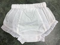 Lace Eyelet Bloomers - White