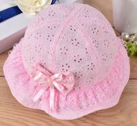 Lace Fashion Sun Hat - Pink