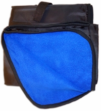 Lined Polar Fleece Picnic Blanket - Royal