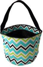 Multi Chevron Print Bucket Tote - BLACK only