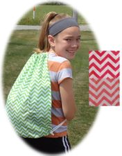 **Clearance Priced**- Chevron Print Cinch Sack / Gym Bags