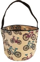 Clearance Priced - Patterned Bucket Tote - Bicycles