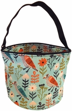 Patterned Bucket Tote - Birds