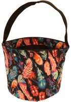 Clearance Priced - Patterned Bucket Tote - Feathers