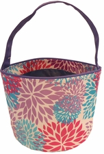 Clearance Priced - Patterned Bucket Tote - Flowers