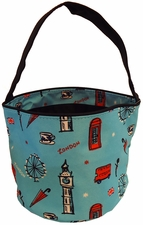 Clearance Priced - Patterned Bucket Tote - London